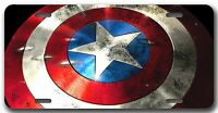 L@@K! Captain America Comic Book Superhero Steve Rogers License Plate Auto Tag
