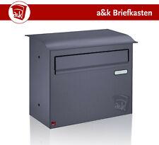 Zaunbriefkasten Briefkasten Edelstahl anthrazit grau RAL 7016 (Art. 09.2)