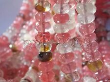 """5x8mm Faceted Multicolor Watermelon Tourmaline Gemstone Abacus Loose Beads 15"""""""