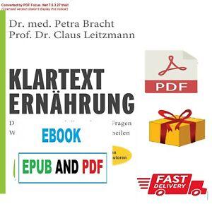 Klartext Ernährung by Bracht, Petra Leitzmann, Claus _Lese die_Beschreibung