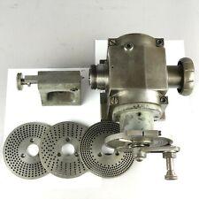 Hardinge Dividing Head + Tailstock + 4 Indexing Plates + 5C Collet Drawbar