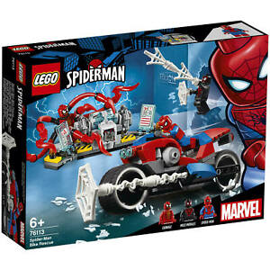 NEW LEGO MARVEL Super Heroes 76113 SPIDER-MAN BIKE RESCUE Miles Morales Carnage
