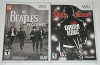 Nintendo Wii Game Lot - The Beatles Rock Band (New) Rolling Stones Drum King