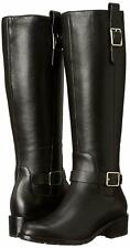 Cole Haan Kenmare Black Tall Knee High Leather Zippered Riding Boots Size 10M