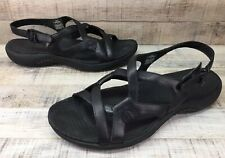 Merrell Agave Black Leather Sandals  Women's sz 8