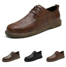 Mens Oxfords Lace up Casual Retro Low Top Leisure Faux Leather Business Shoes L