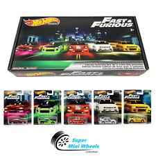Hot Wheels Premium 2019 Fast & Furious Original Fast B Case Box Set of 5 Cars