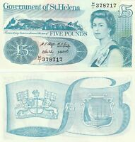 St Helena 5 pounds UNC ND(1998)
