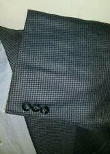 New 54R Check SILK WOOL Sport Coat Blazer Jacket Blue Black Gray Houndstooth