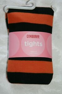 Gymboree HALLOWEEN Orange and Black Striped Tights NWT 5 6 7 8 9 10