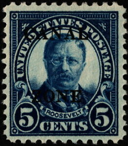 Canal Zone - 1926 - 5 Cents Blue Overprinted Teddy Roosevelt # 86 Mint F-VF +