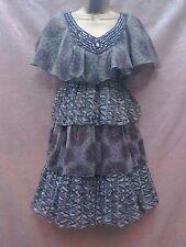 NWT grey floaty chiffon layered dress size 8