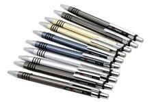 10 Cello POWER Ball Point Pens With Rubber Grip + 10 Blue Ink Refills