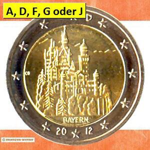 Sondermünzen BRD:2 Euro Münze 2012 Bayern Neuschwanstein Sondermünze Gedenkmünze