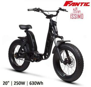 "E-BIKE BICI ELETTRICA 20"" FAT FANTIC ISSIMO FUN NERO 250W, 630WH"
