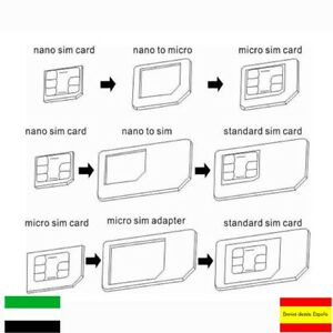 Adaptador tarjeta Nano SIM  Micro SIM  SIM Card Noosy Android Iphone Smartphone
