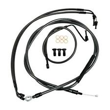 """La 12""""-14"""" Ape Midnight Standard Cable Line Kit for Harley 08-13 FLH FLT w/o ABS"""