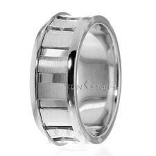 10K SOLID GOLD MENS CONCAVE WEDDING BANDS RINGS MANS 8.5M WIDE WEDDING BAND RING