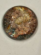 1891-S- Bu Morgan, Intense Rainbow, See Other Morgans, Jewelry & Gold