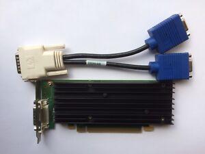 SFF HP 454319-001 456137-001 NVIDIA NVS 290 P538 256MB PCIE WIN 10 VGA SPLITTER