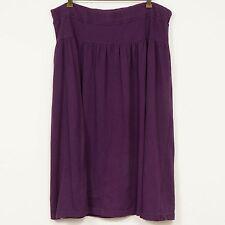 Bechamel Skirt L XL 2X Purple Long Modest Stretch Waist Pockets Womens VTG