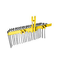 Titan Attachments Pine Straw Needle Rake 4 ft for Cat 0, 3 Point