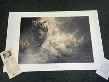 John Seerey-Lester: WHITE LIGHTNING --Tiger  SN Lithograph Edition 1250 NIF