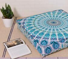 """35"""" Mandala Indian Square Seating Cover Pouf Ottoman Cushion Floor Pillow Case"""