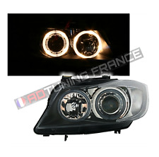 2 FEUX PHARE AVANT ANGEL EYES BMW SERIE 3 E90 E91 NOIR + KIT XENON