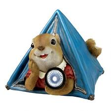 Let's Go Camping Pitched Tent Squirrel with Flashlight Wildlife Animal Sculpture