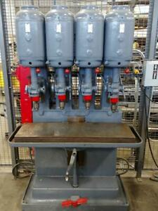 Leland Gifford 4 Spindle Drill Press, Multi Spindle