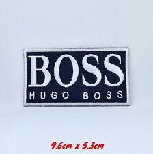 Hugo Boss Marke Abzeichen Schwarz Bestickt Eisen Aufnäher #1271B