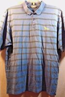 Cutter & Buck Mens Polo Shirt Size XL Signature Collection S/S Blue Striped