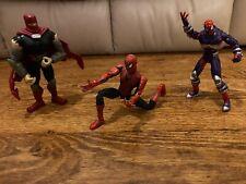 Antiguo Lote De Figuras Marvel 1997 Toybiz/2003 leyendas Articulado Spiderman Tmnt