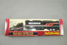 Ertl Kenworth T600B With Drop-Box Van Trailer Erickson H0 1:87 Boxed (K20)