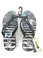 MICROS Men's Flip Flops Thong Sandal MZSD-353 Black/White Size 9
