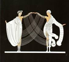 "Vintage ORIGINAL Impresión de Art Deco ERTE ""matrimonio Dance"" placa de libro moda"