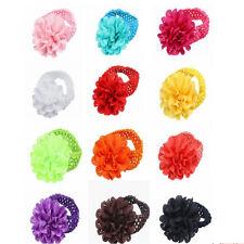 10pcs Kids Baby Girl Lace Flower Toddler Headband Hair Band Headwear