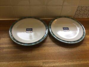 Denby Azure Coast Dessert/Salad Plates x 2 - BRAND NEW. Unused.