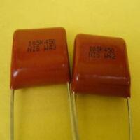 10pcs NIS W42 Polyester Film PCB Panel Capacitor 450V 105K 1uf