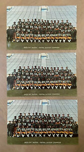 LOT of 3 - 1970s NFL GREEN BAY PACKERS TEAM FOOTBALL PHOTO / POSTCARD - LAMBEAU
