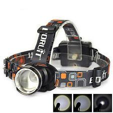 Black 2000LM XM-L T6 LED 3xAA Zoomable Headlamp Headlight Head Torch Flashlight
