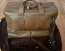 Isaia Brown Leather Large Holdall Travel Bag. $ 3999 retail
