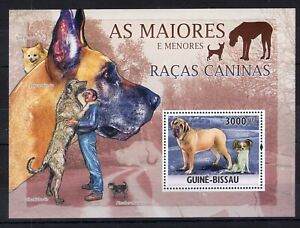 Guinea Bissau 2010 - Dogs Mastiff on postage  stamps perf. MNH** B308