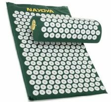 Nayoya Back and Neck Pain Relief Acupressure Mat and Pillow Set Brand New