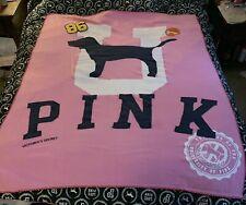 Victoria's Secret Vs Pink Vintage Pup Dog Blanket Throw! Rare Htf!
