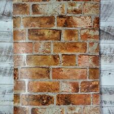 York 3D Embossed Textured Rustic Red Brown Industrial Modern Brick Wallpaper