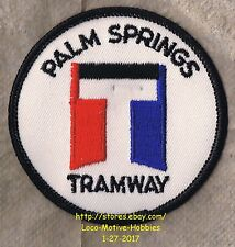 """LMH PATCH Badge  PALM SPRINGS AERIAL TRAMWAY  Rotating Tram  Old """"T"""" Logo 3"""" CA"""