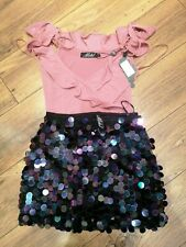 Pink Motel Rocks Bodysuit and skirt Size Small new