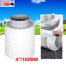"""4"""" Hydroponic Activated Carbon Filter Inline Exhaust Odor Control Ventilation AU"""